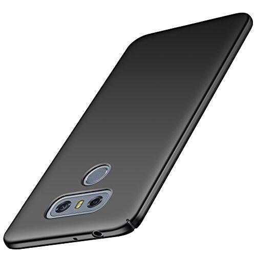 Avalri LG G6 Hülle, Superdünne Handyhülle Hardcase aus PC Stoß- & Kratzfest Kompatibel mit LG G6 (Glattes Schwarz)