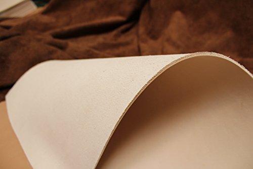 Förster-Fellnest Zuschnitt-Auswahl: Kräftiges Blankleder, Dickleder, 5,3-5,5 mm dick! Punzierleder - pflanzlich gegerbt, für viele Projekte: Tasche, Köcher, Holster, Messerscheide usw.
