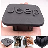 fit Jeep Trailer Hitch Tube Cover Plug Cap,Rubber Receiver Tube Hitch Plug,Trailer Hitch Cover Tow Hitch Cover (fit Jeep Hitch 3)