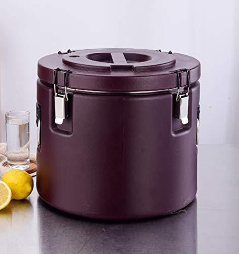 GZKXUE Edelstahl-Wasserspender doppelt isoliert Reis Fass mit großer Kapazität Suppe Fass 20L-60L geeignet for Familienfeiern (Color : Brown, Size : 30L)