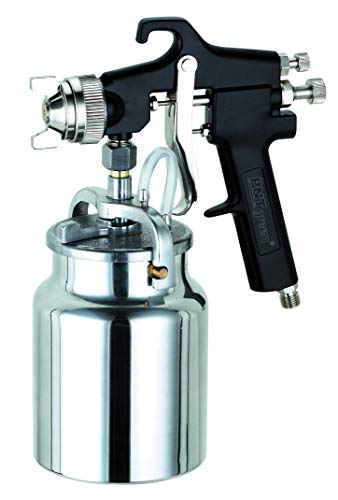 PNTGREEN HVLP Spray Gun, Siphon Feed, Black Handle, 1000ml -1.8mm Nozzle for a Variety of Low Viscosity Paints, Such as Lacquer, Enamel, Stain, Urethane with air Flow and Paint Pattern Control knob