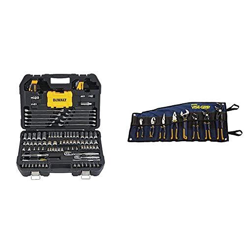 DEWALT Mechanics Tools Kit and Socket Set, 142-Piece (DWMT73802) & IRWIN VISE-GRIP GrooveLock Pliers Set, 8-Piece (2078712)