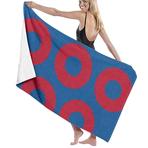ADGoods Toallas de Playa de Microfibra Red Circle Toallas de Piscina de SPA súper absorbentes de Secado rápido para natación y Exteriores, 31 'x 51'