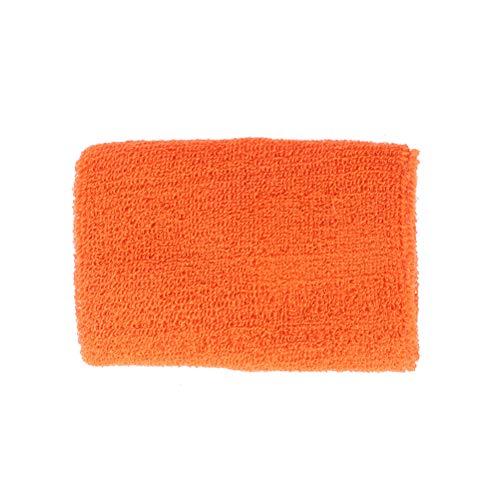 LIOOBO Polsino Sweatband Polsino per Pallacanestro Tennis Badminton Tinta Unita Arancione 1 Paio