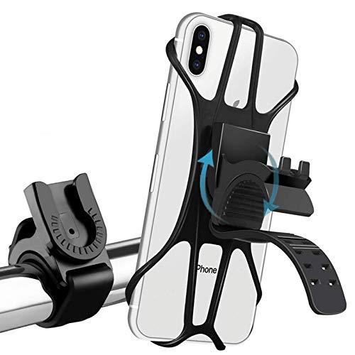 Zommuei Handyhalterung Fahrrad, Handyhalterung Motorrad Abnehmbare 360° Drehen Anti-Vibration verstellbare Fahrradhalterung für alle 4.0-7 Zoll Geräte