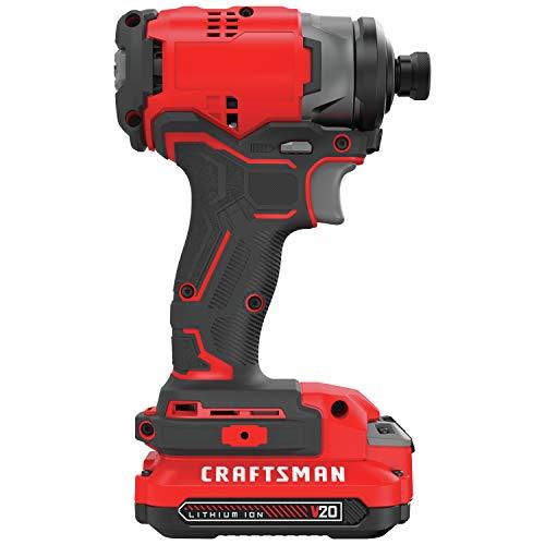 CRAFTSMAN V20 Impact Driver Kit, Cordless (CMCF810C1)