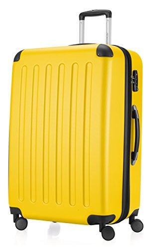 HAUPTSTADTKOFFER - Koffer Spree Trolley Gepäck Hartschale, 75 cm, 128 Liter, matt, Gelb