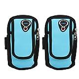 SALUTUYA Running Arm Bag Bolsa de Brazo de poliéster Premium con Conector para Auriculares, para Ciclismo