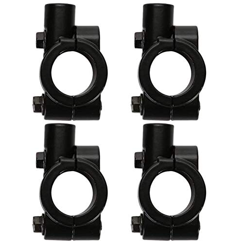 Sort de Espejo Retrovisor Adaptador de 8 mm -YUESEN Abrazadera Moto Accesorios Universal Motocicleta 7/8 Manillar Soporte de Espejo,para Motocicleta, Bicicleta, Moto,Negro(4 Piezas)
