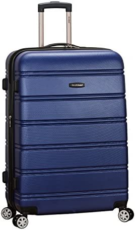 Rockland Melbourne Hardside Expandable Spinner Wheel Luggage Blue Checked Large 28 Inch product image