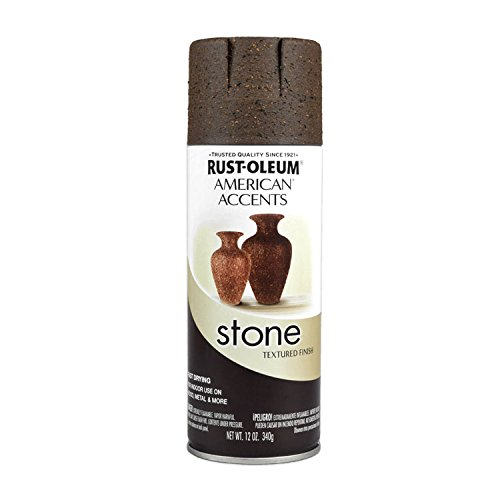 Rust-Oleum 238324 Stone Creations Spray, 12 oz, Mineral Brown