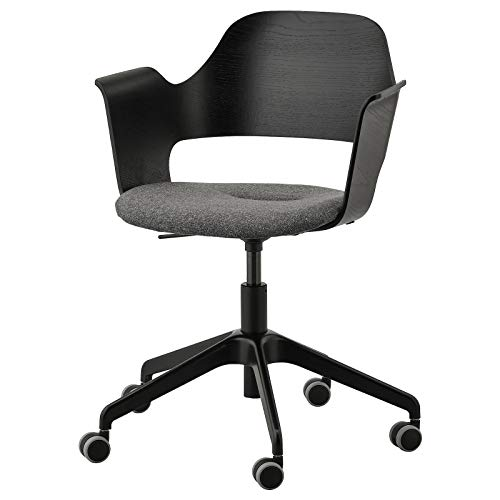 IKEA FJÄLLBERGET Conference Chair with castors, Black Stained ash Veneer/Gunnared Dark Grey