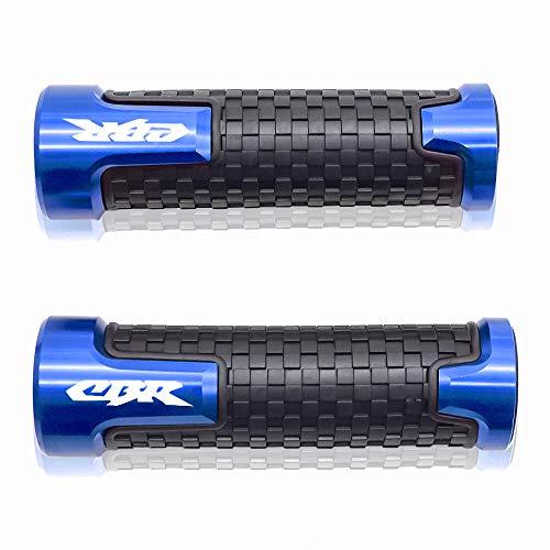 7 8  22mm Puños Acoples de Manillar Agarraderas para Honda CBR60F CBR125R CBR150R CBR250R CBR400 NC23 NC29 CBR600 F2 F3 F4 F4i CBR600RR CBR900RR CBR954RR CBR1000RR Azul