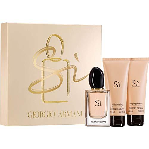 Giorgio Armani Si For Women 3 Piece Set (3.4 Oz Eau De Parfum Spray/ 2.5 Perfumed Body Lotion / 2.5 Perfumed Shower Gel)