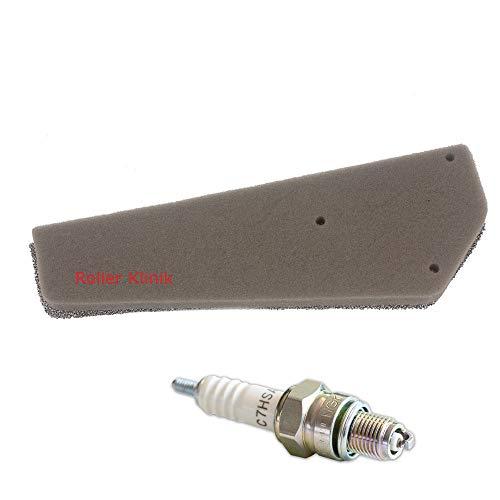 Zündkerze C7HSA & Filtereinsatz Luftfilter 4 Takt 50 ccm Roller Baotian Znen Benzhou