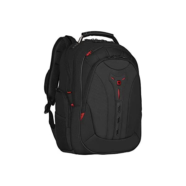 """41h t gN4aL. SS600  - WENGER 606492 Pegasus Ballistic Deluxe 14""""/16"""" Expandable Laptop Backpack, Padded Laptop Compartment with SmartCharge USB Port in Black {25 litres}"""