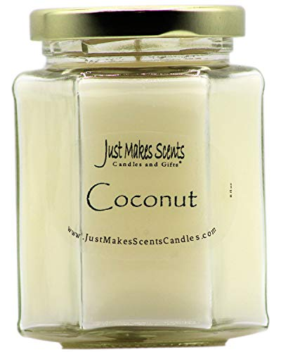 Just Makes Scents Coconut Scented Candle | Clean and Fresh Scent | Hand Poured in The USA
