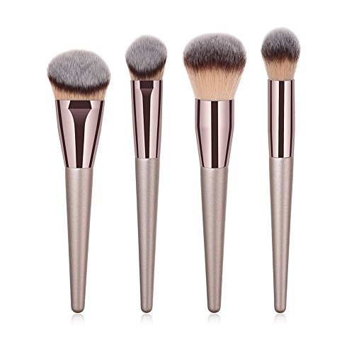 JoyRolly 4 Stücke Make-Up Pinsel Set Puderpinsel Professionelle Schönheit Pinsel Kosmetik Kit...