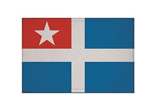 U24 Aufnäher Kreta Fahne Flagge Aufbügler Patch 9 x 6 cm