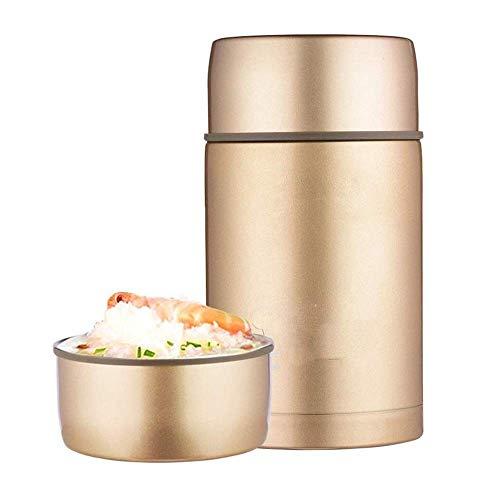 Geïsoleerde lunchcontainers Thermos-voedselpot Vacuüm geïsoleerd Roestvrij staal Lekvrij Houd voedsel koud Warm voedselcontainer Schoolwerk Reizen Lunchboxhouder