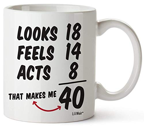 40 regalos de cumpleaños para mujeres, cuarenta años de edad, hombres regalo feliz divertido 40 hombres mujeres mujeres esposas hombre mejor amigo cesta 1978 hombre