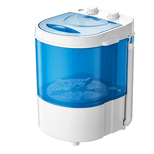 Auertech Mini Washing Machine, Portable Compact Laundry Machine Washer with Spin Dryer, Time Control, for Dorms, Apartments, RVs