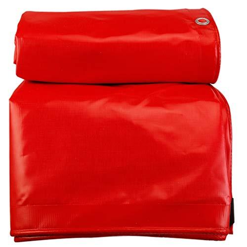 Résistant résistant à l'eau de traction de crème solaire imperméable de bâche rouge épaississante se déchirant pour la couverture de bicyclette de camion antipoussière antipluie étanche à l'humidité a