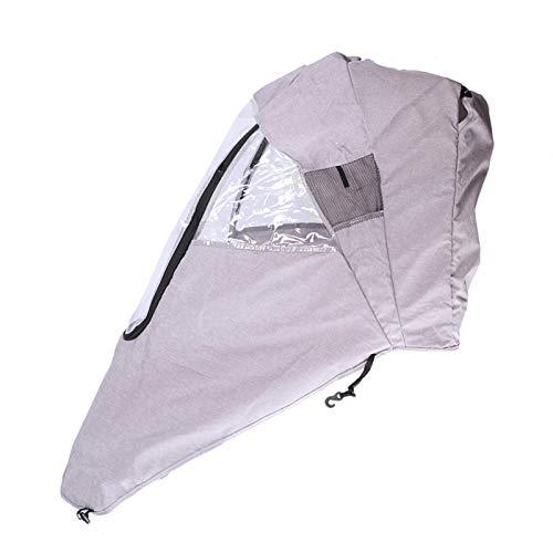 Funda de lluvia para cochecito de bebé, Práctica funda de lluvia para cochecito de bebé a prueba de viento, para cochecito de bebé(Linen gray warm rain cover)