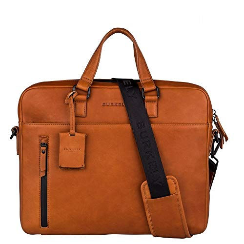 Burkely Rain Riley Laptoptas 15.6'' Corroded Cognac