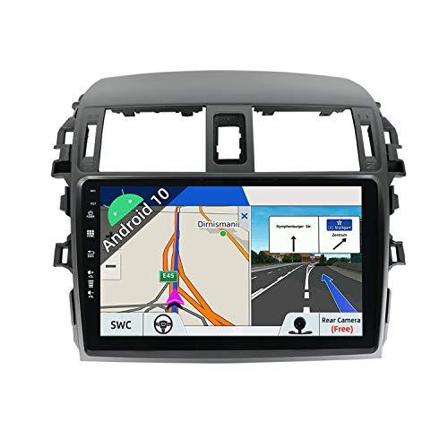 JOYX Android 10 Autoradio Compatibile Toyota Corolla (2008-2013) - [2G+32G] - 2 DIN - Telecamera Gratuiti - 9 Pollici Con 2.5D - Supporto DAB 4G WLAN Bluetooth Carplay Mirrorlink Volante Android Auto