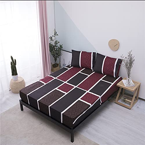 WNAVX Duvet 2020 Fitted Sheet Soft Overseas parallel import regular item Cash special price Bed with Elastic Band P