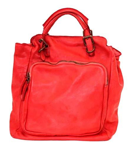 BZNA Bag Rob rot Backpacker Designer Rucksack Damenhandtasche Schultertasche Leder Nappa sheep ItalyNeu