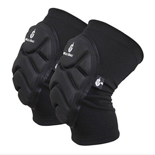 A Pair Unisex Adult Crashproof Safety Knee Elbow Pads Leg Sleeves Brace Safeguard Support Guard Protector for Cycling Skiing Snowboard Roller Skating Skateboard Extreme Sports Protective Gear Kneepads