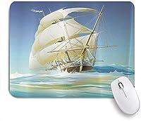 MISCERY マウスパッド 海賊船プリントスタンダード 高級感 おしゃれ 防水 端ステッチ 耐久性が良い 滑らかな表面 滑り止めゴム底 24cmx20cm