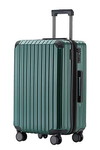 Münicase Münicase M816 TSA-Schloß Koffer Reisekoffer Trolley Kofferset Hardschale Boardcase Handgepäck (Dunkelgreen, Mittler Koffer)