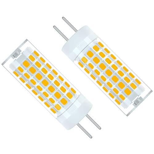 ZIBEI GY6.35/G6.35 Bombillas LED 6W Blanco cálido 3000K,Equivalente 75W G6.35 de halógeno,90-265V,ángulo de haz de 360 grados(No regulable, 2 piezas)