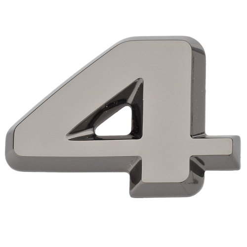 Luxbling Auto Chrom 3D Zahl - schwarz - 4