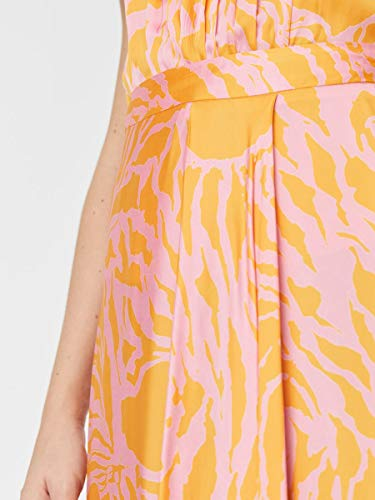 Vero Moda VMLINE 7/8 H/W Skirt VMC Falda, Naranja (Saffron), M para Mujer