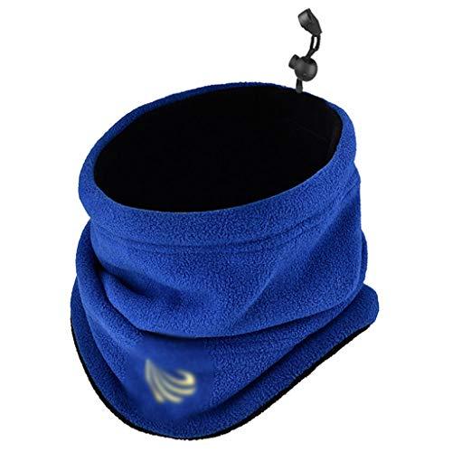 Bufanda de los hombres Babero de los hombres de invierno gruesa bufanda caliente de doble cara de la columna cervical, además de terciopelo de la bufanda al aire libre a caballo de Doble Uso de la más