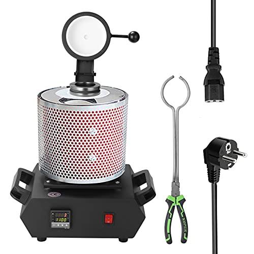 Keifen Máquina de horno de fusión digital con sistema PID de capacd de 3 kg para calentar fundición refinar metales oro plata
