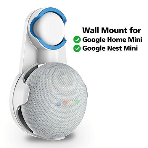 SPORTLINK Soporte de Pared para Google Nest Mini (2.ª generación), Wall Mount Compatible with Google Home Mini (1st Generation), Manejo de Cable Incorporado (Blanco)