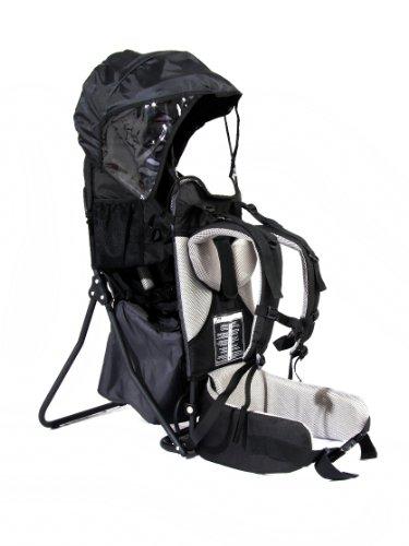 FA Sports Lil'Boss Siège portable pour enfant pour extérieur avec protection contre le soleil, 50 x 38 x 90 cm, Noir/gris
