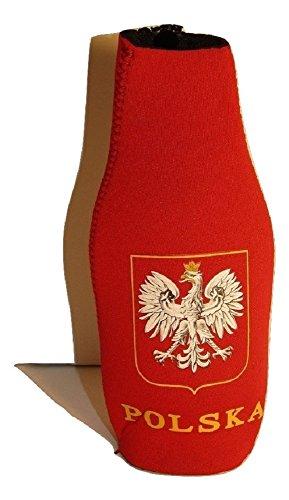 AES Poland Polish Polska Eagle Country Red White Bottle Jacket