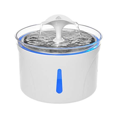 Primlisa Fuente para gatos, fuente para gatos, dispensador de agua, grifo LED con luz LED, fuente automática para bebidas, fuente para gatos y perros