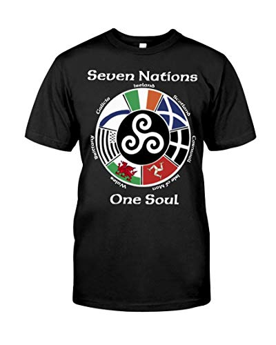 Seven Nations One Soul The Celtic Nations, T-Shirt Unisex T-Shirt, Youth Shirts, Hoodie, Long Sleeve, Sweatshirt for Men Women Kids, Printed in US