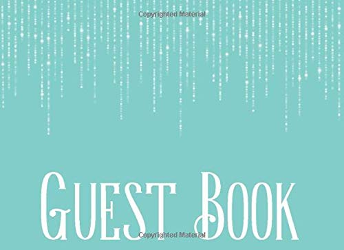 Guest Book: Teal Blue Cover: Birthday, Bridal Shower, Wedding, Baby Shower and Anniversary — Curtain String Lights