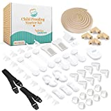 Baby Defence Complete Home Baby Proofing Kit - BPA Free, Easy Assembly, 50 Piece - Child Safety Locks Set for Doorknobs, Corners, Outlets, Cabinets