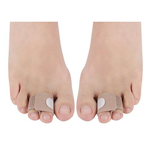 Supvox Toe Splints Glätteisen Broken Toe Wraps Cushioned Bandagen Hammer Toe Separator Schienen für gebrochene verletzte Finger Hammer Toe