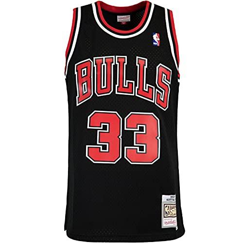 Mitchell & Ness Swingman Scottie Pippen Chicago Bulls 97/98 - Camiseta (talla M), color negro