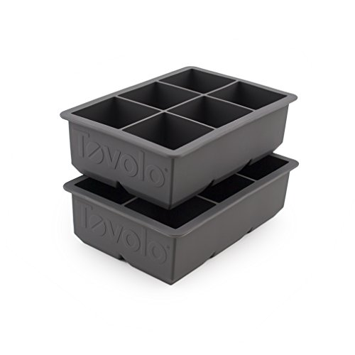 Tovolo 81-21778 King Cube Ice Trays, Charcoal-Set of 2